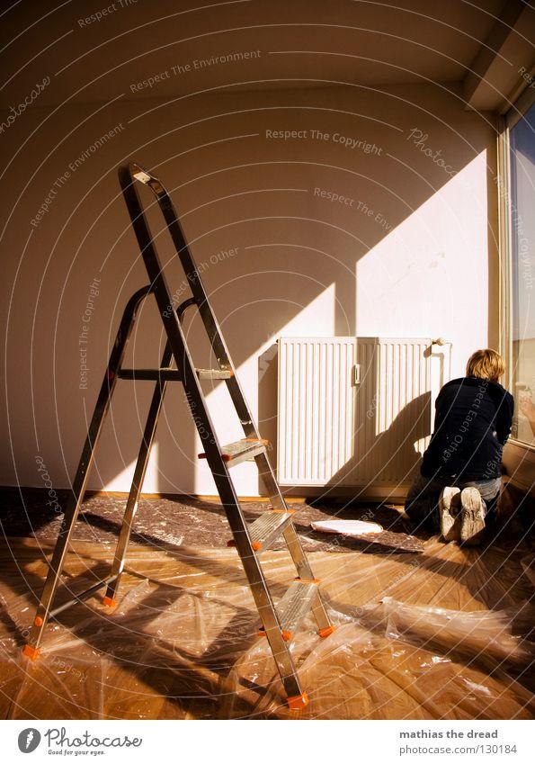 MISSION WHITE NUMBER TWO Mann Himmel weiß Sonne Ferne Farbe Arbeit & Erwerbstätigkeit Wand Fenster Linie hell Metall blond hoch verrückt neu