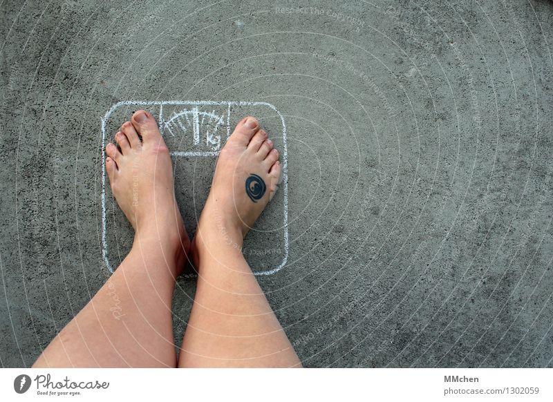 Überraschung! schön Gesunde Ernährung Leben Essen Gesundheit Glück Beine Fuß Zufriedenheit Erfolg Lebensfreude Fitness Ziel dünn Übergewicht Kontrolle