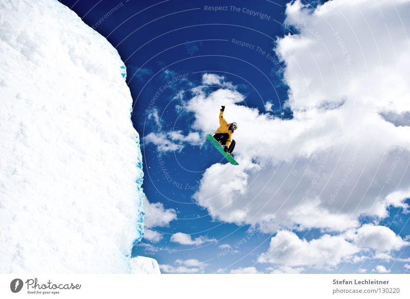 Flight Control V schön Freude Winter Berge u. Gebirge Hintergrundbild Freiheit fliegen springen Freizeit & Hobby Eis groß hoch Show Körperhaltung Risiko drehen
