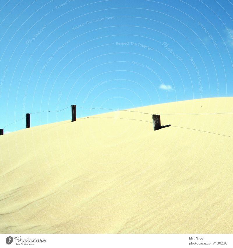 smooth Natur Himmel Sonne blau Pflanze Sommer Strand Ferien & Urlaub & Reisen Wolken Ferne Wärme Sand Linie hell Wellen Küste