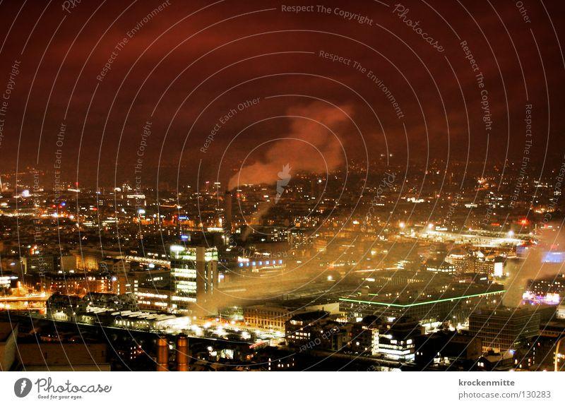 Blade Runner Stadt Haus Wolken Beleuchtung Nebel groß Elektrizität Aussicht Schweiz Abgas Umweltverschmutzung Zürich Wolkenhimmel Stromverbrauch