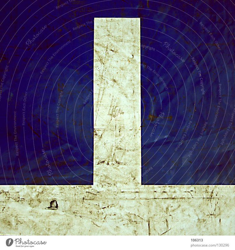 PHALLUS Abdeckung weiß Linie Quadrat schäbig alt Schwanz Angelrute Zauberstab bewegungslos abstrakt Sinnbild maskulin Muster Stoff Textilien Oberfläche Mitte