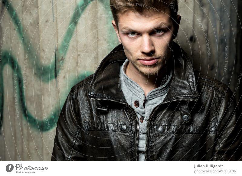 what Mensch Jugendliche schön Junger Mann 18-30 Jahre Erwachsene Gefühle Graffiti Stil Lifestyle Mode elegant Kraft stehen Erfolg ästhetisch
