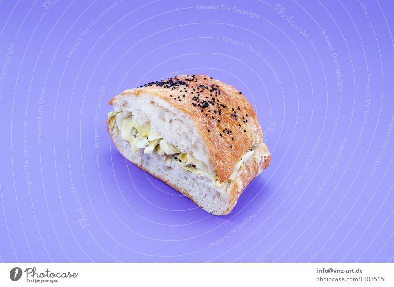 Sandwich Farbe Gesunde Ernährung Speise Essen Foodfotografie außergewöhnlich violett lecker graphisch Werkstatt Brot Mahlzeit Geschmackssinn Käse Snack