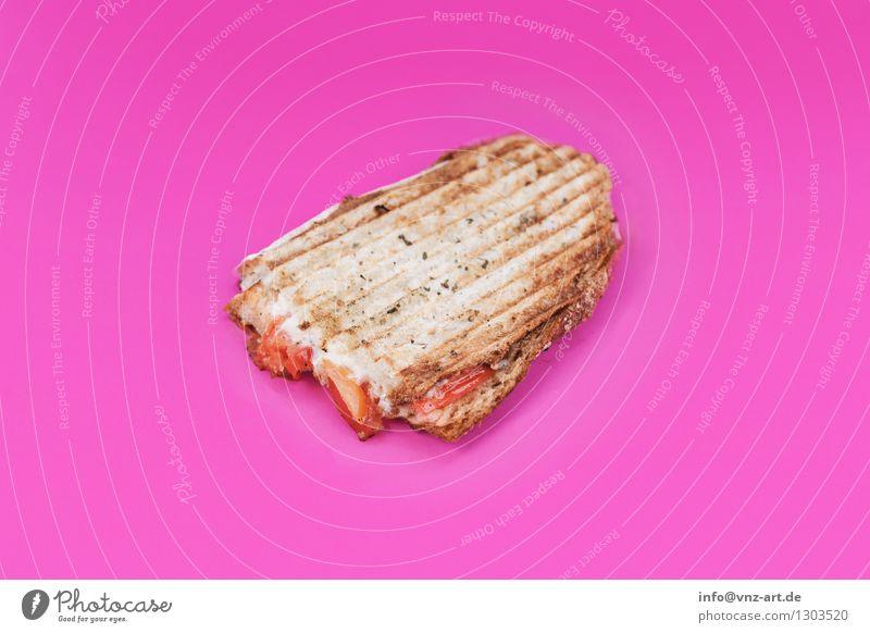 Sandwich Speise Essen Foodfotografie außergewöhnlich rosa lecker graphisch Werkstatt Brot Mahlzeit Geschmackssinn Tomate Käse Snack Belegtes Brot Toastbrot