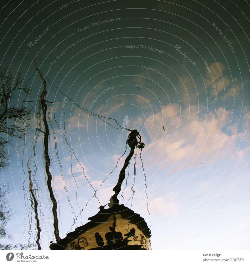 PARALLELWELTEN II Himmel Natur blau Wasser weiß Baum Sonne Ferien & Urlaub & Reisen Sommer Meer Wolken Erholung Herbst dunkel Fenster Freiheit