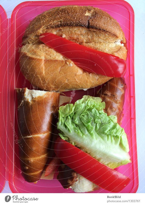 Pausenbrotjause Ferien & Urlaub & Reisen rot Essen natürlich Gesundheit Lebensmittel gold Ernährung genießen Ausflug Lebensfreude Fitness Pause Kunststoff trendy Tradition
