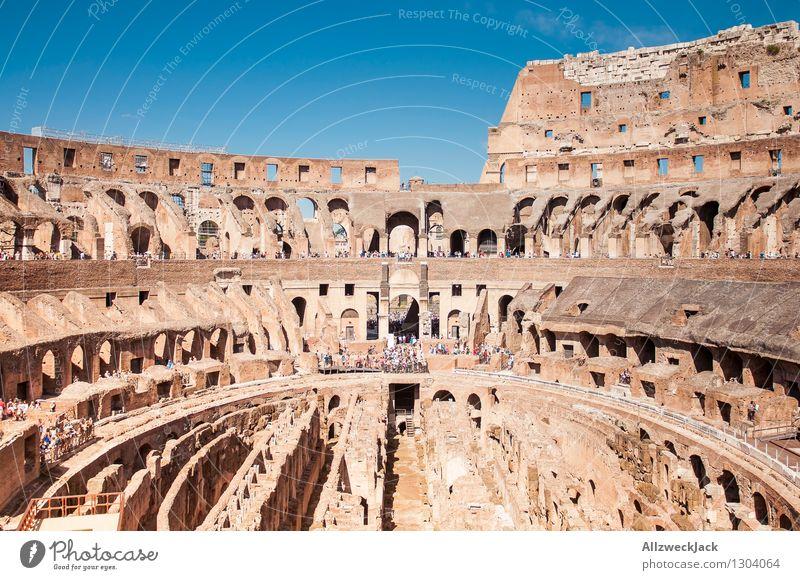 Rom III Italien Europa Hauptstadt Altstadt Architektur Sehenswürdigkeit Wahrzeichen Kolosseum alt ästhetisch Bekanntheit Stadt braun Senior Stadion Ruine