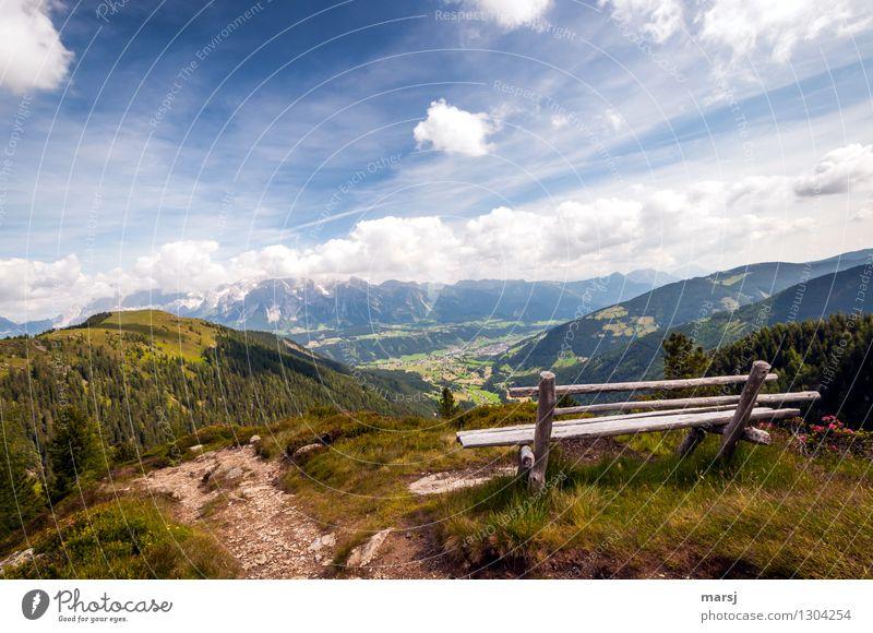 Nicht perfekt, aber perfekte Aussicht Himmel Ferien & Urlaub & Reisen Sommer Erholung Wolken ruhig Ferne Berge u. Gebirge Herbst außergewöhnlich Zufriedenheit
