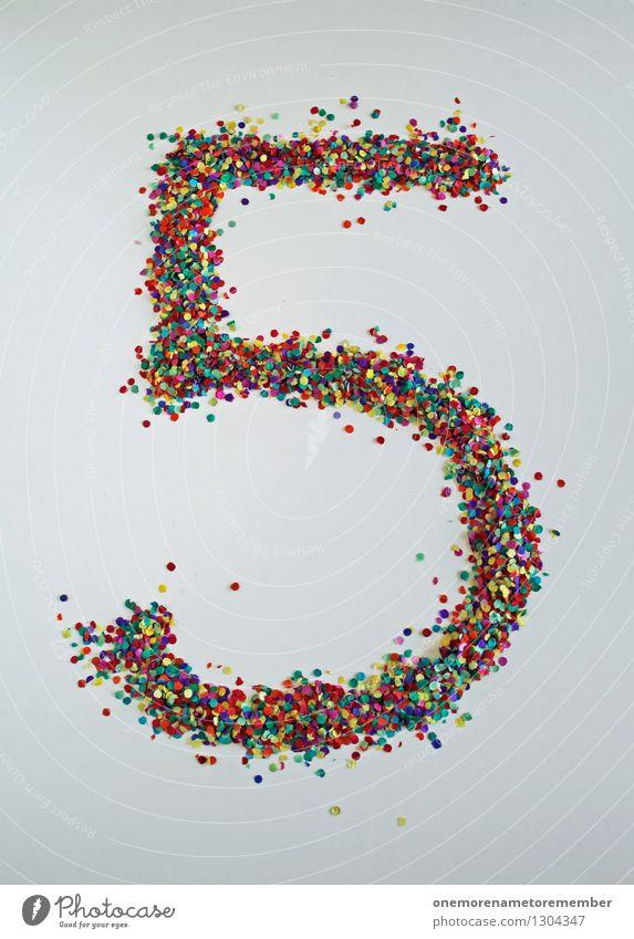 5 wie: Halb Zehn Kunst Kunstwerk ästhetisch Ziffern & Zahlen mehrfarbig Punkt Fröhlichkeit gestalten Kreativität Farbfoto Innenaufnahme Experiment abstrakt