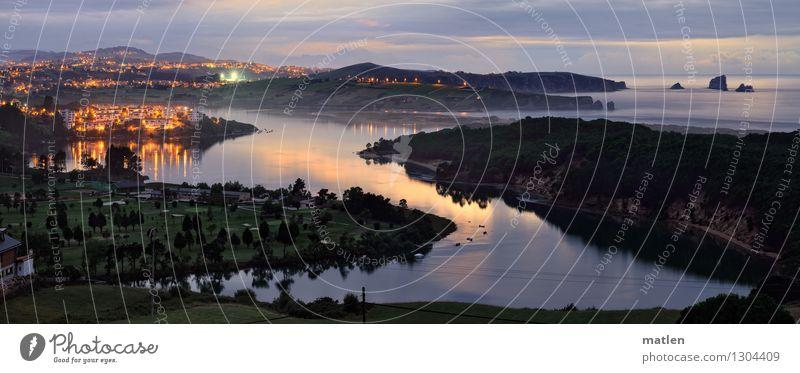 Kantabrische See Natur Landschaft Pflanze Himmel Wolken Horizont Sonnenaufgang Sonnenuntergang Sommer Wetter Schönes Wetter Baum Gras Wiese Wald Hügel Felsen