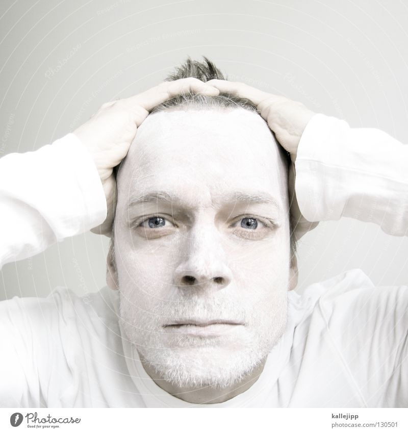 the whitest boy alive Mensch Mann weiß Farbe Gesicht Auge Haare & Frisuren hell Nase Lippen Maske Hemd Bart Kosmetik Schminke Strahlung