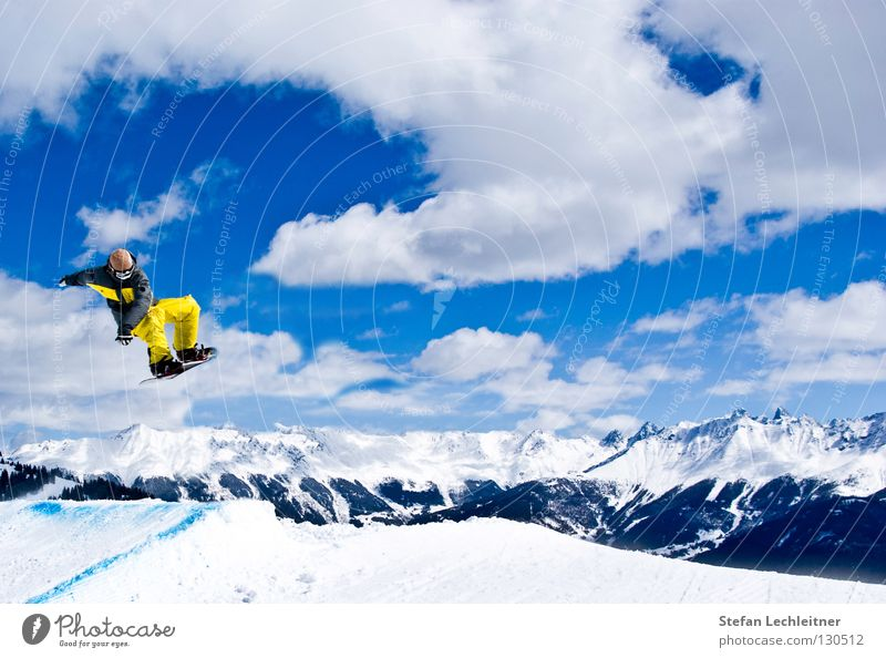 Flight Control VI schön Sonne Freude Winter Berge u. Gebirge Schnee Hintergrundbild Freiheit fliegen springen Freizeit & Hobby groß hoch Show Alpen