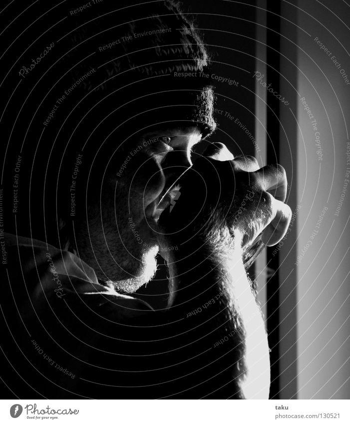 THIRSTY Mann Hand Wasser Fenster Haare & Frisuren Glas Finger trinken Bart Mütze Festessen Mahlzeit Neuseeland