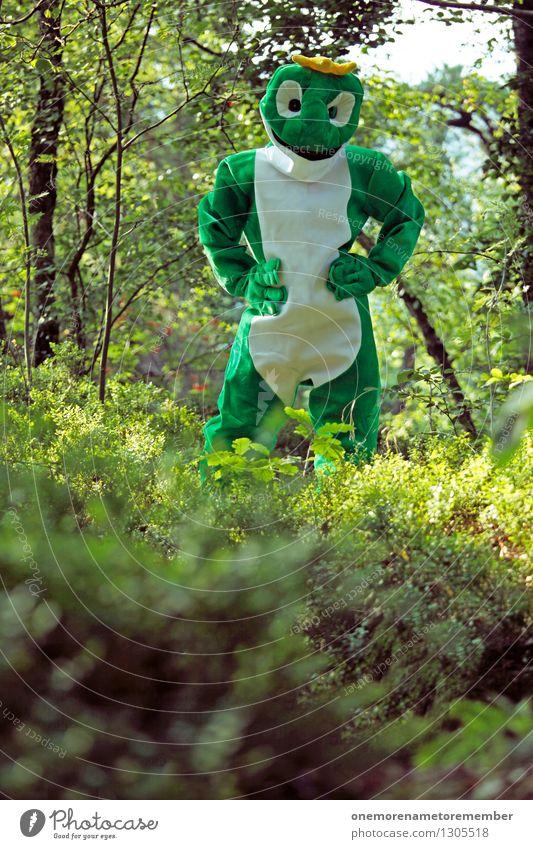 Naturfroschgebiet Jugendliche grün Freude Wald Kunst ästhetisch warten Jugendkultur Frosch Kunstwerk Kostüm Karnevalskostüm Naturschutzgebiet spaßig Unsinn Spaßvogel