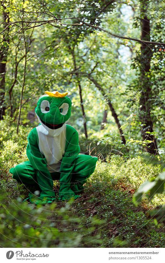 Alles Quak! Natur grün Freude Kunst ästhetisch Abenteuer Karneval Frosch Kunstwerk Karnevalskostüm hocken Krone spaßig Spaßvogel verkleidet Naturliebe