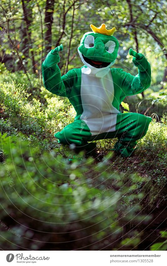 Ghetto Frog Kunst ästhetisch Frosch Froschperspektive Froschkönig Froschauge Froschschenkel grün Krone Wald Natur Rapper Mittelfinger anstößig provokant