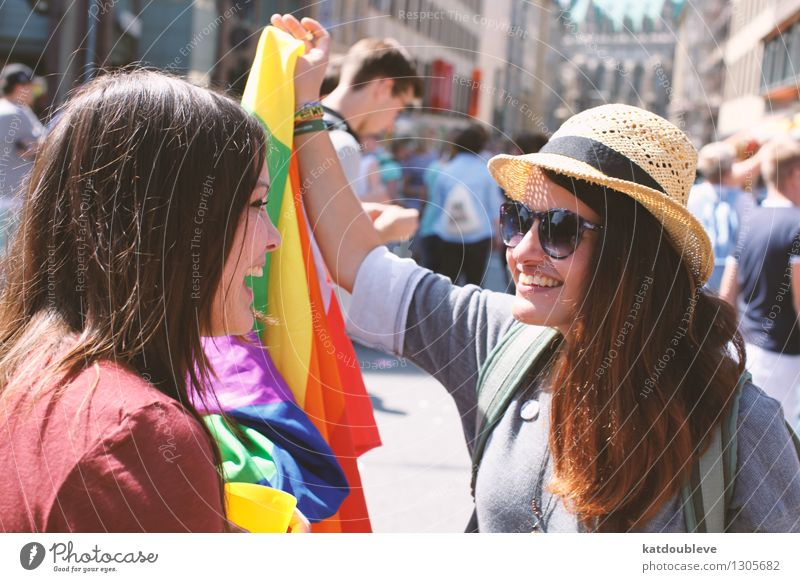 with or without the wall feminin Homosexualität entdecken Feste & Feiern Lächeln lachen frei Freundlichkeit Fröhlichkeit Glück Unendlichkeit nah Neugier