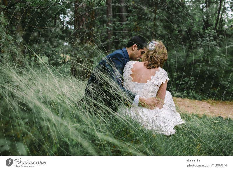 Natur Pflanze Erholung Freude Leben Liebe Gefühle Gras Stil Familie & Verwandtschaft Freiheit Stimmung Paar Zusammensein Freundschaft wild