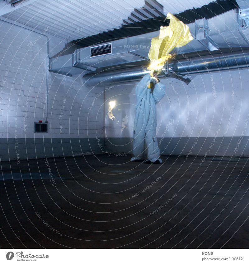 keepdafireburnin' Freude gelb grau springen Kraft Brand Geschwindigkeit Luftverkehr Brandschutz Technik & Technologie Asphalt Maske Röhren Anzug brennen
