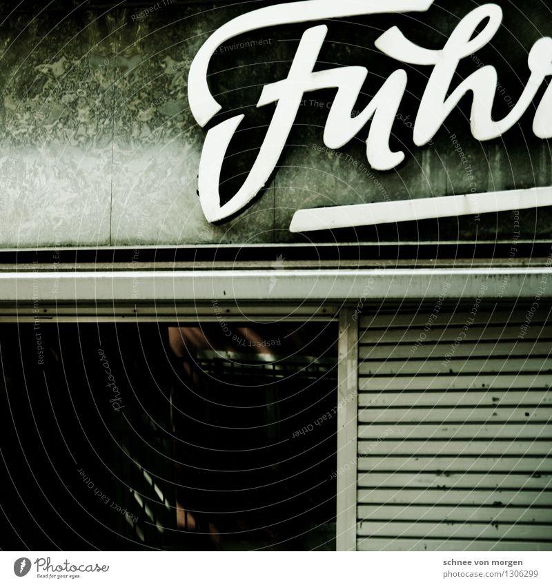 """Fuhr Köln Stadt Stadtzentrum Fußgängerzone Mauer Wand Fassade Denkmal Stein Glas alt authentisch dunkel trendy einzigartig schwarz türkis weiß """"Fassade Reklame"""