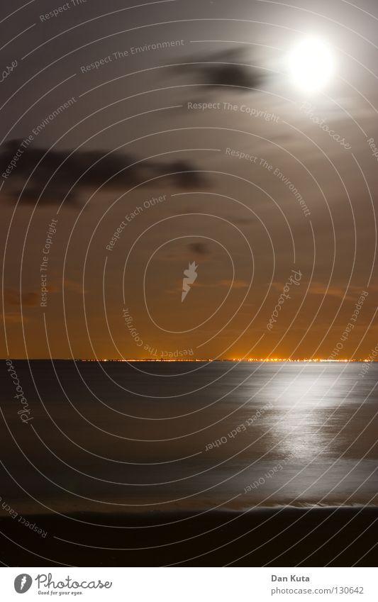 Seelenfrieden Nacht kalt Eis gefroren Minusgrade Gedanke losgelöst Freude Einsamkeit Ferien & Urlaub & Reisen Erholung schön Horizont Belgien Niederlande