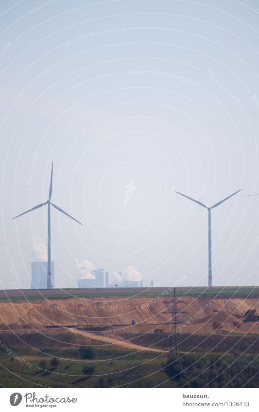 | |. Arbeitsplatz Wirtschaft Industrie Energiewirtschaft Technik & Technologie Fortschritt Zukunft Erneuerbare Energie Windkraftanlage Kohlekraftwerk