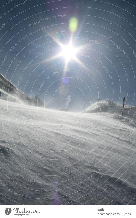 Snowfun Skigebiet Winter Schnee Berge u. Gebirge Skipiste Natur Himmel Sonne Sonnenlicht Eis Frost Schneefall Alpen Gipfel Schneebedeckte Gipfel glänzend Ischgl