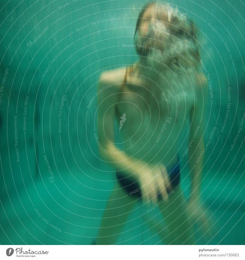 Neptun Ferien & Urlaub & Reisen blau Hand Meer rot Haare & Frisuren Schwimmen & Baden See Luft Schwimmbad tauchen türkis blasen Schulter Wassersport Blubbern