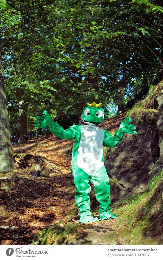 SHOWMASTER FROG Kunst Kunstwerk ästhetisch grün Wald Waldboden Waldlichtung Frosch Froschlurche Froschkönig Froschauge Karnevalskostüm Freude spaßig Spaßvogel