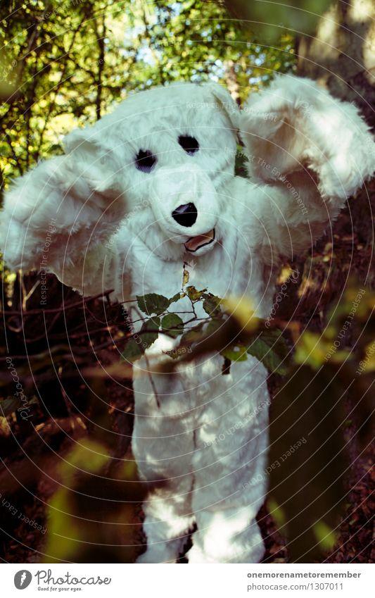 Buh! Kunst Kunstwerk ästhetisch Eisbär Bär ungeheuerlich Ungeheuer Wald Fell Monster wild Wildtier Aggression angriffslustig drohen drohend Natur Kostüm