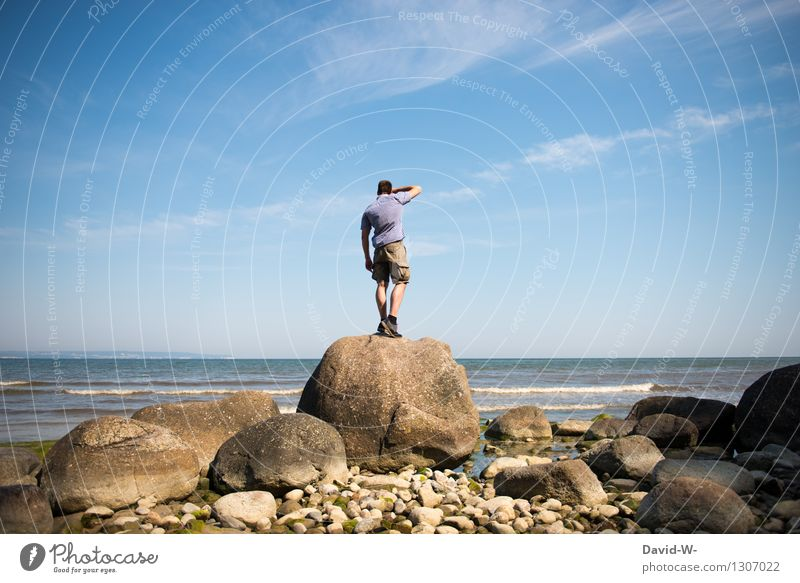 Robinson Crusoe Mensch Natur Ferien & Urlaub & Reisen Mann Landschaft Meer Einsamkeit Ferne Erwachsene Leben Umwelt Küste Tourismus Freiheit Ausflug maskulin