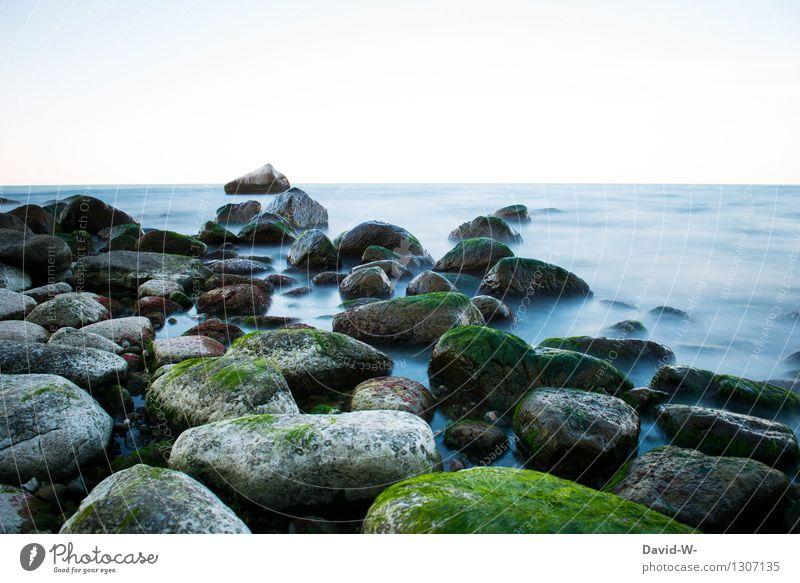 Naturpracht Umwelt Landschaft Urelemente Luft Wasser Himmel Wolkenloser Himmel Herbst Klima Schönes Wetter Küste Bucht Nordsee Ostsee außergewöhnlich Sehnsucht