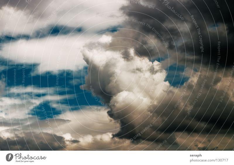 Wolkenland Himmel Freiheit Leichtigkeit leicht Regen Regenwasser Luft Hintergrundbild Gewitter Kumulus Wind Regenwolken Strukturen & Formen Gewitterwolken