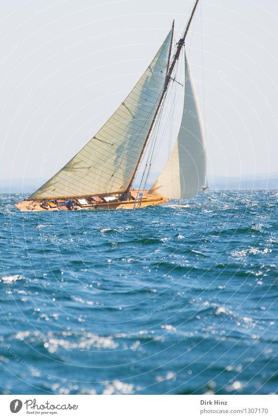 Segeltraum Segeln Jacht blau Freude Bewegung elegant Erholung erleben Freiheit Freizeit & Hobby Horizont Leben Ferien & Urlaub & Reisen Sport Tourismus