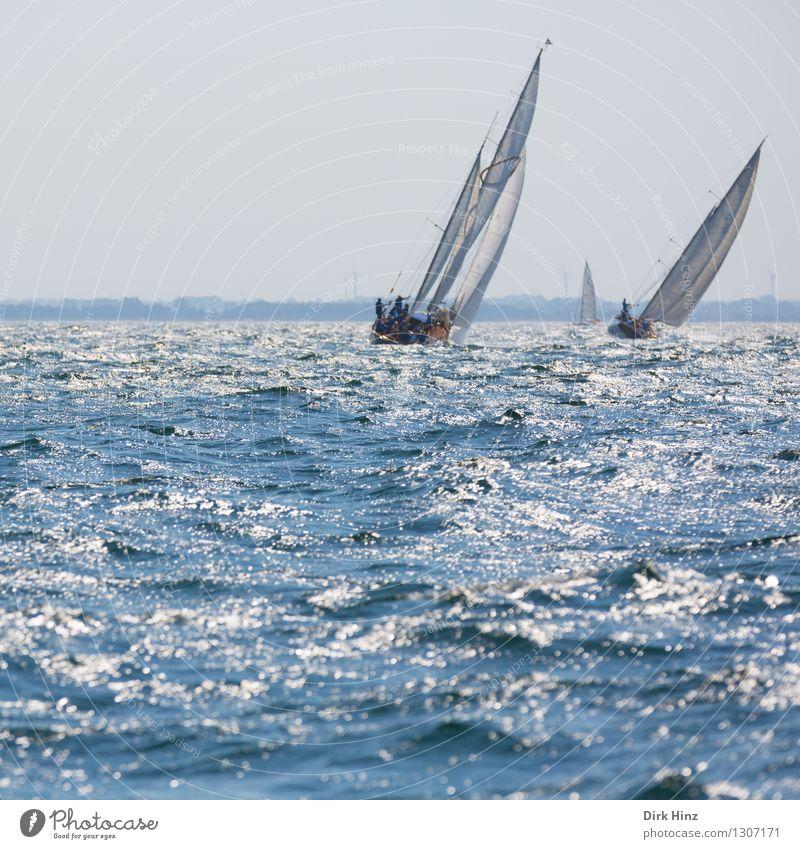 Fernweh II Ferien & Urlaub & Reisen Tourismus Sommer Sommerurlaub Sonne Segeln Jacht Freude Geschwindigkeit Lebensfreude Natur Segelboot Segeljacht Segeltörn
