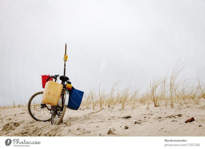 Dänische Impressionen.... Natur Ferien & Urlaub & Reisen Pflanze Meer Einsamkeit Landschaft Strand Wege & Pfade Küste Lifestyle Fahrrad warten Klima Fahrradfahren einzigartig Nordsee