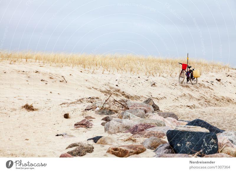 Des Fischers Fahrrad..... Himmel Natur Meer Landschaft ruhig Wolken Ferne Strand Frühling Wege & Pfade Küste Zeit außergewöhnlich Fahrrad Ausflug Fahrradfahren
