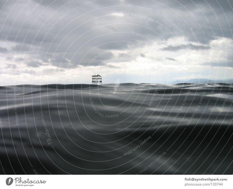 competition tower Wasser schwarz dunkel Aussicht Dienstleistungsgewerbe Hochsitz überblicken Taktik