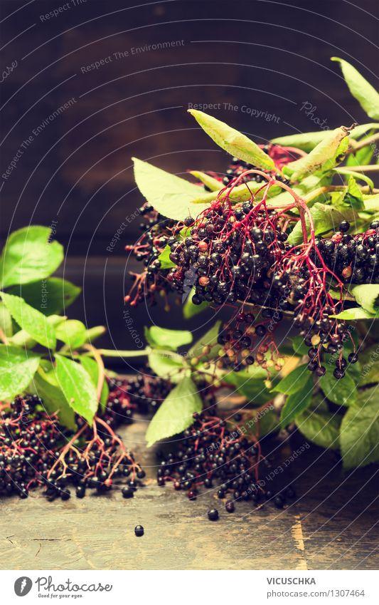 Holunderbeeren Natur Sommer Blatt Gesunde Ernährung Leben Stil Hintergrundbild Garten Lebensmittel Design Frucht Tisch Küche Ernte Bioprodukte