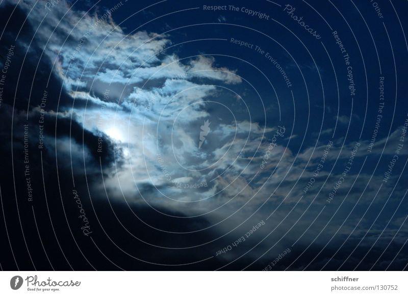 ...und dann kam das Grauen... Himmel Sonne blau Wolken dunkel grau Nebel Hintergrundbild Wetter hoch gruselig tief unheimlich dramatisch Firmament Wetterdienst