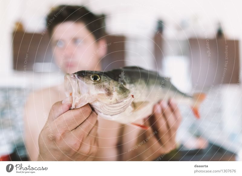 Fischer-Tag Erholung Leben natürlich lustig Stil Spielen Lifestyle Lebensmittel Stimmung wild Freizeit & Hobby elegant Erfolg Fröhlichkeit Ausflug Lebensfreude