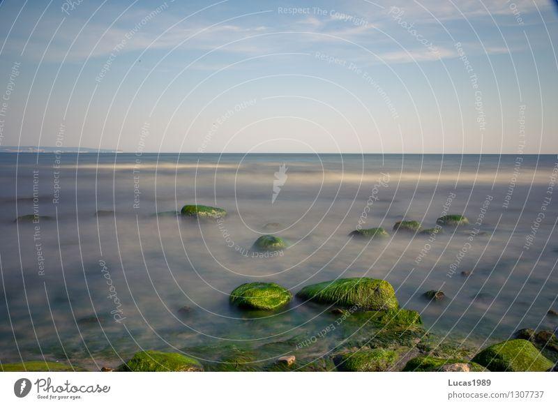 Ruhige See Himmel Natur Ferien & Urlaub & Reisen Pflanze Sommer Sonne Meer Landschaft Ferne Strand Umwelt Küste Schwimmen & Baden Felsen Tourismus Wetter