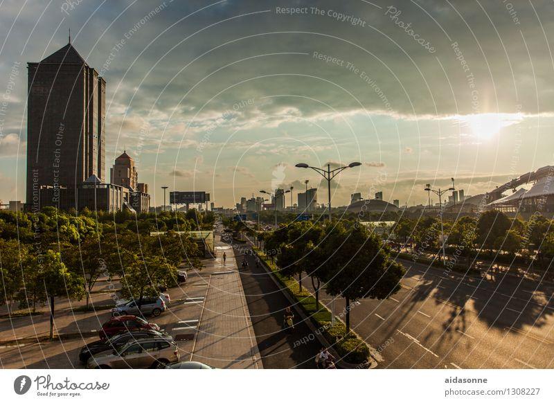 Jiangyin Jiangsu China Asien Stadt Stadtzentrum Menschenleer Haus Gebäude Architektur Verkehrswege Straßenverkehr Autofahren PKW Häusliches Leben Reichtum