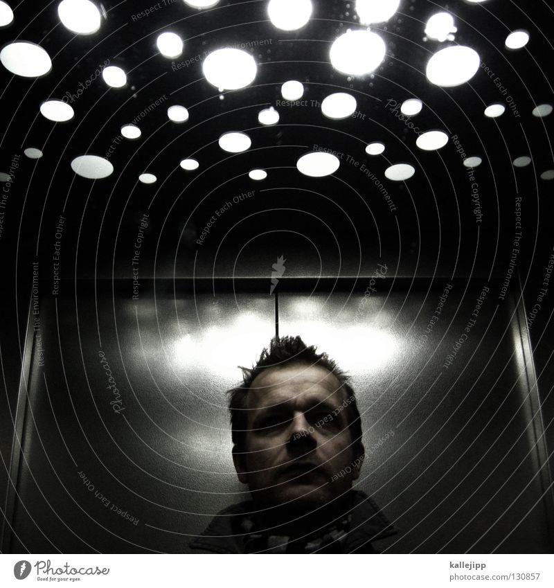 ich seh den sternenhimmel Mensch Himmel Mann Gesicht Kopf Beleuchtung Raum Mund Platz Nase Hochhaus Stern (Symbol) Kreis Weltall Kugel Stahl