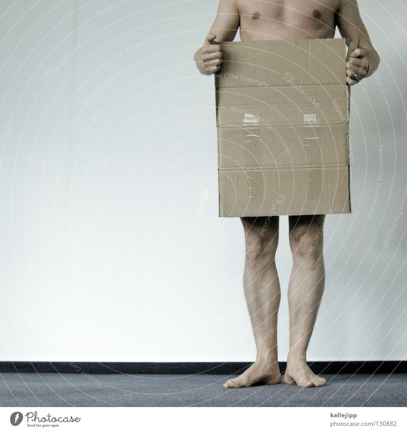 designschutz Überraschung Geschenk Wunsch Mann nackt Tanzfläche Mensch Lifestyle Behälter u. Gefäße Karton Papier Hose Hand Gelenk Zehen Teppich Wand Tapete