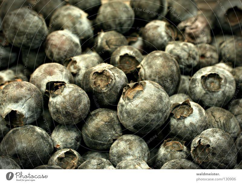 Heidelbeeren verschrumpelt eingetrocknet Ernährung Lebensmittel Frucht Vergänglichkeit Makroaufnahme Nahaufnahme Blaubeeren Kulturheidelbeeren Beeren alt