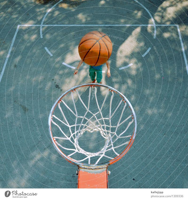 kopfkorbball Sport Fitness Sport-Training Sportler Ball Sportstätten Mensch Kind Junge Frau Jugendliche 1 werfen Basketball Basketballkorb Netz zielen punkten