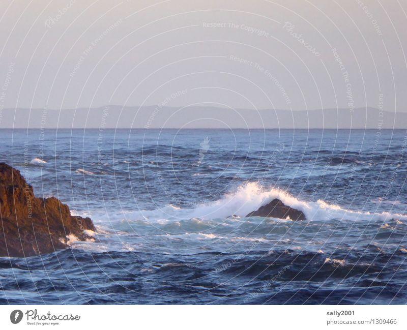 im Hintergrund Nordirland... Natur Wellen Küste Meer Atlantik Schottland Bewegung Erholung fantastisch gigantisch Unendlichkeit maritim natürlich Abenteuer