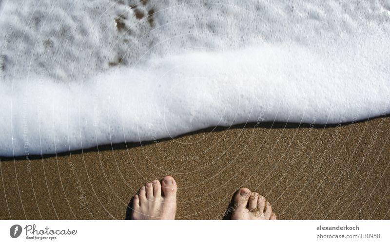 Schaumbad Wasser Ferien & Urlaub & Reisen Meer Strand Erholung Sand Glück Fuß Wellen Schwimmen & Baden Sehnsucht Schaum Zehen Türkei Gischt Flut